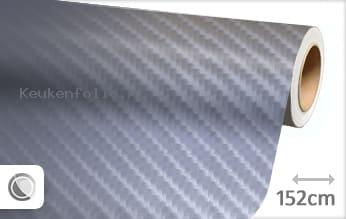 Grijs 4D carbon keukenfolie
