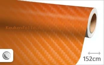 Oranje 4D carbon keukenfolie