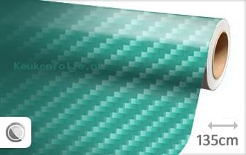 Turquoise 2D carbon keukenfolie
