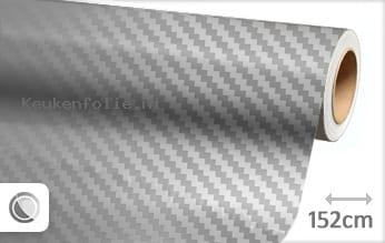 Zilver chroom 3D carbon keukenfolie